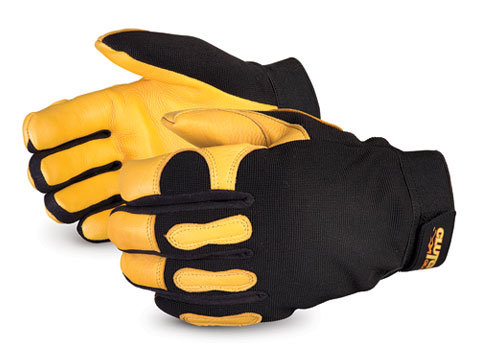Clutch Gear® Winter Lined Deerskin Mechanics Gloves