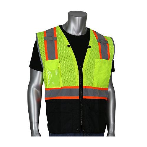 302-0650D  Ripstop Black Bottom Vest