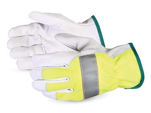 378GAHVB Hi-viz Endura® Goat-Grain Driver Gloves