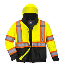 US367 Portwest Hi-Vis Bomber Jacket 2 In 1