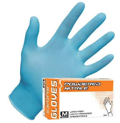 Powdered Nitrile Disposable Glove