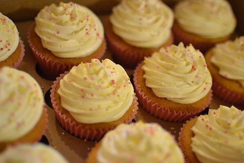 Vanilla Sprinkles Cupcakes