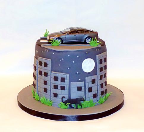 Jaguar car Concrete Jungle cake