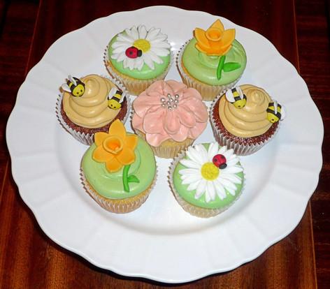 English Country Garden Cupcakes