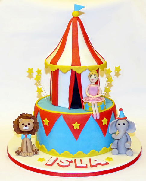 Circus Tent Birthday Cake