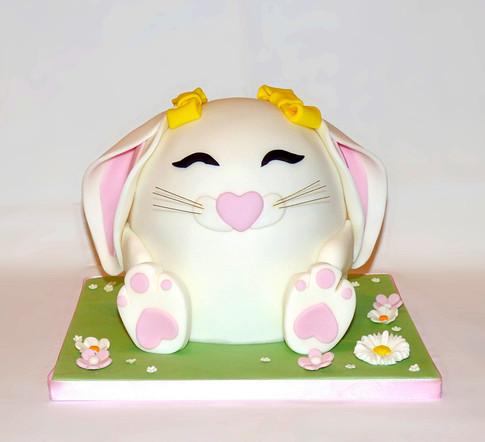Floppy ear Bunny cake