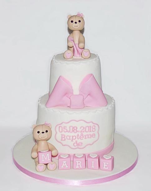 Teddies Bapteme cake