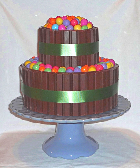 Chocolate with chocolate Easter eggs cake