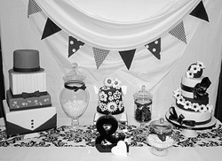 Bride and Groom Wedding Cakes