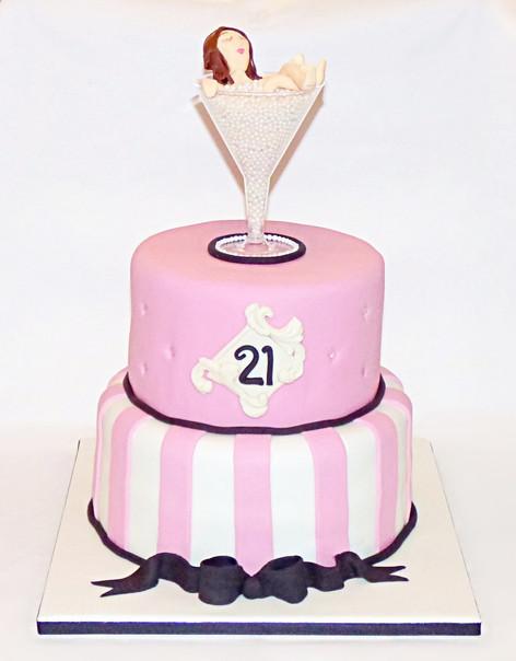 Champage 21st Birthday Cake