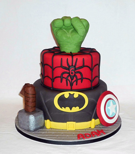 Marvel Superheroes birthday cake