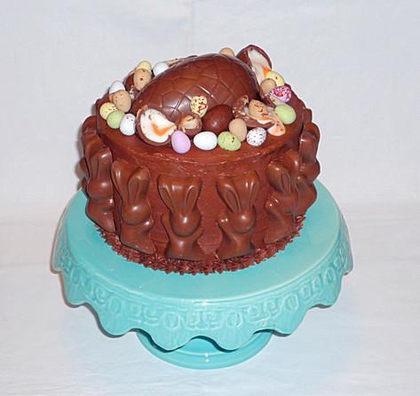 Easter eggs chocolate cake