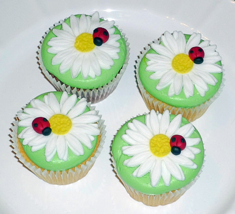 Daisy Ladybug Cupcakes