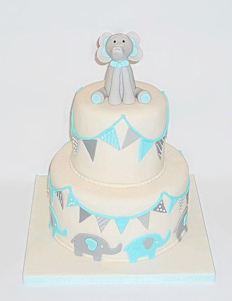 Little Elephant Baby Cake