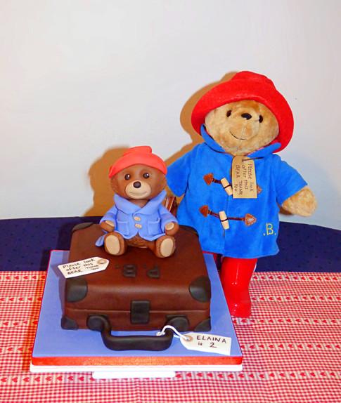 Paddington Bear and teddy cake