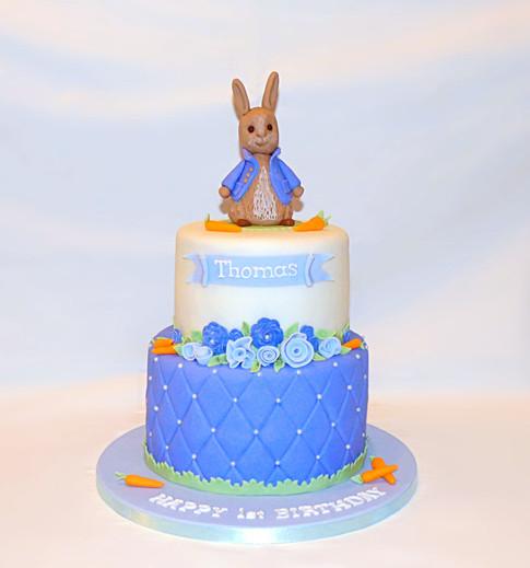 Peter Rabbit blue cake