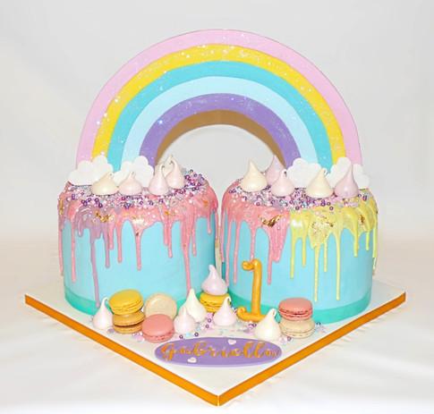 Rainbow Bright birthday cake