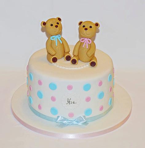 Teddies Gender Reveal Cake
