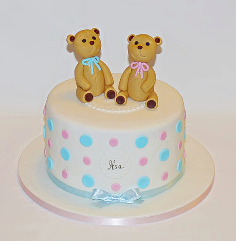 Teddies Gender Reveal Cake