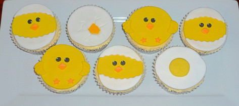 Easter Chicks Cupcakes