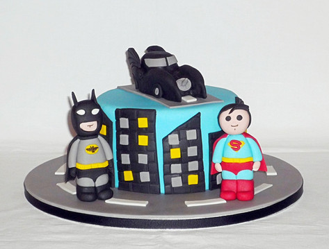 Batman v Superman Birthday Cake