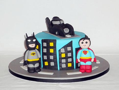 Batman v Superman Birthday Cake