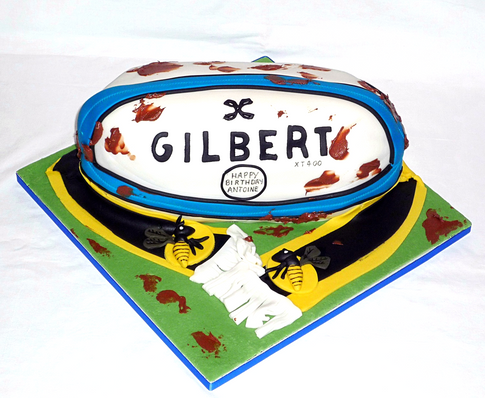 French Rugby and Wasps Cake