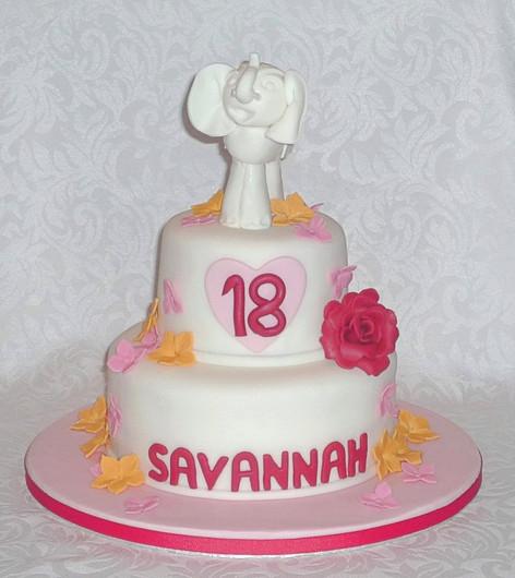Exotic Elephant Birthday Cake