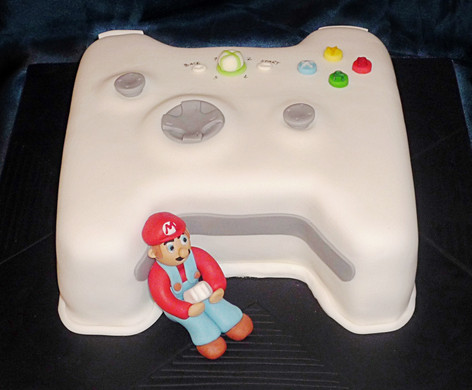 Super Mario Playing Xbox Cake