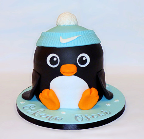 Nike Penguin birthday cake