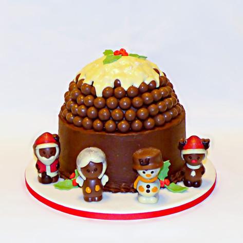 Chocolate Christmas Pudding Cake
