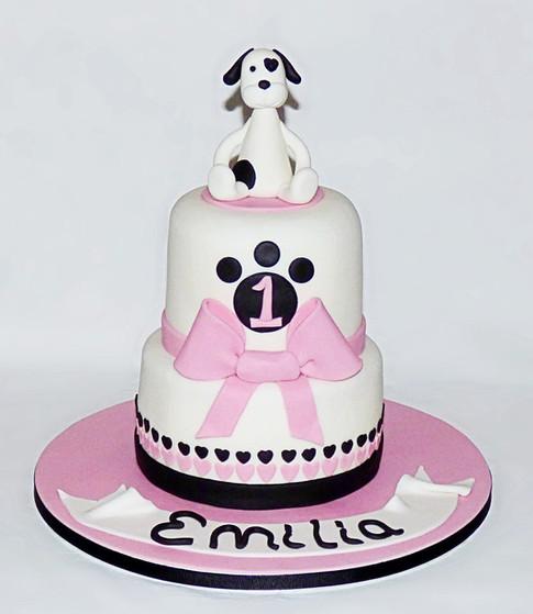 Little Dog 1st birthday cake