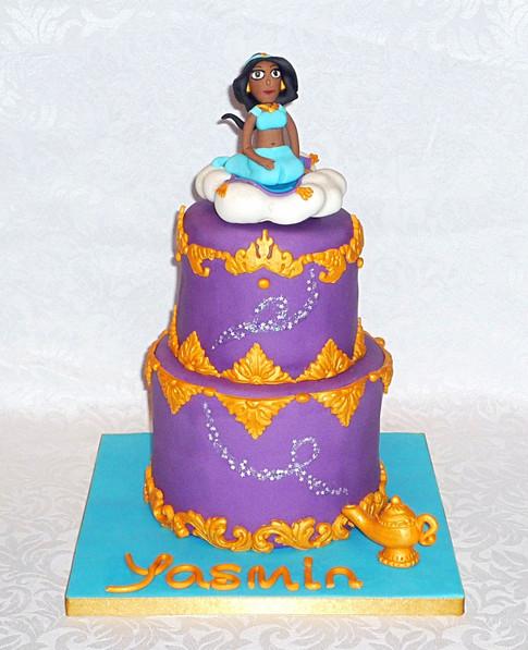 Princess Jasmine Aladdin Cake