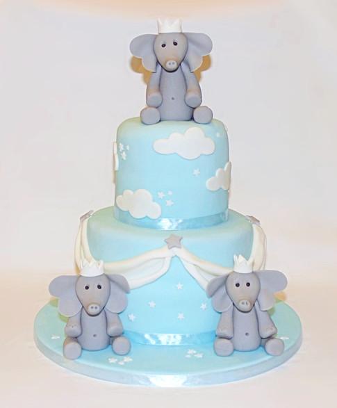 Elephant Prince baby cake