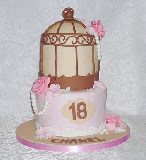 Birdcage Birthday Cake