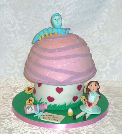 Alice in Wonderland 3D Toadstool Cake