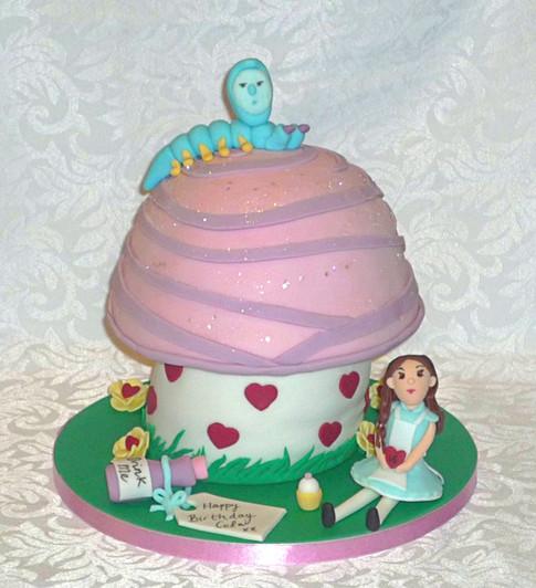 Alice in Wonderland 3D Toadstool Cake