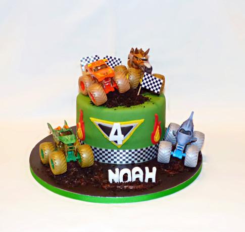Monster Jam Monster Truck cake