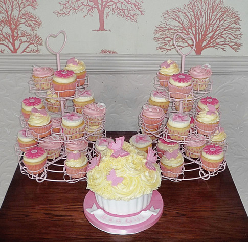 Baby Shower Cupcake Table