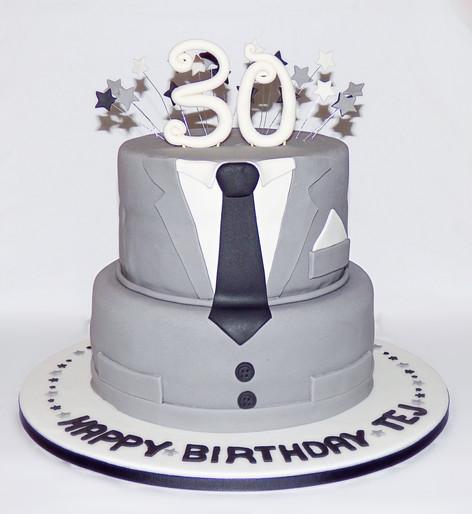 Suit and Tie Birthday Cake