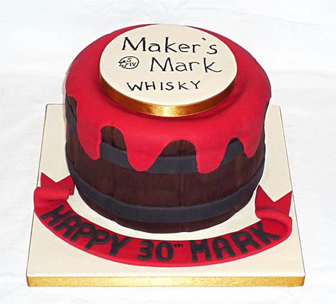 Makers Mark Whisky Cake
