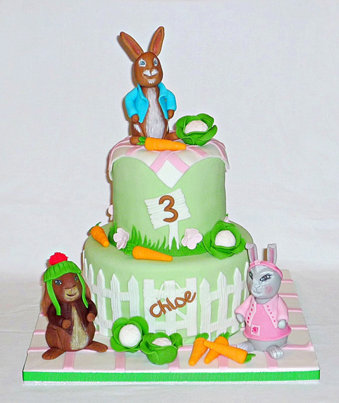 Peter Rabbit and Friends Cake