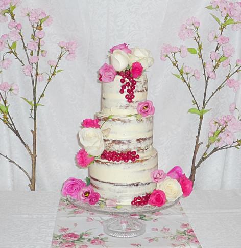 Semi-Naked Roses Cake