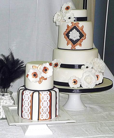 Great Gatsby inspired Wedding Cakes