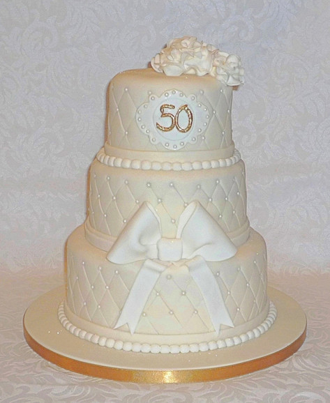Chanel inspired 50th Cake