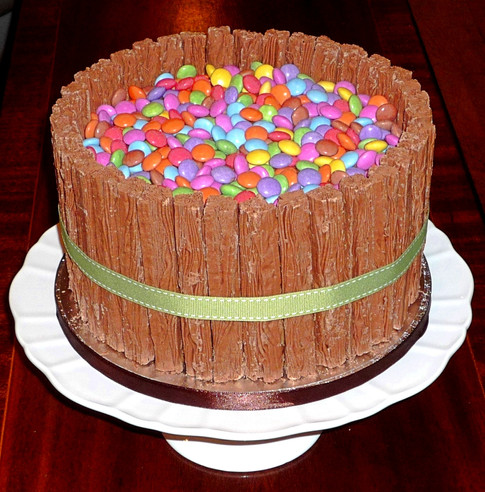 Smarties Chocolate Flake Cake