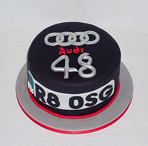 Audi Number Plate Cake