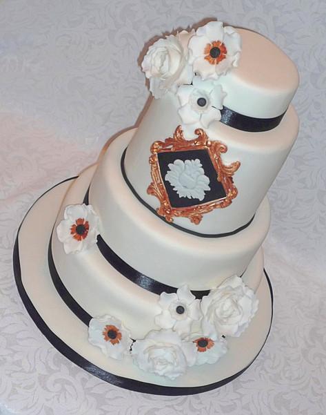 Great Gatsby inspired Wedding Cake