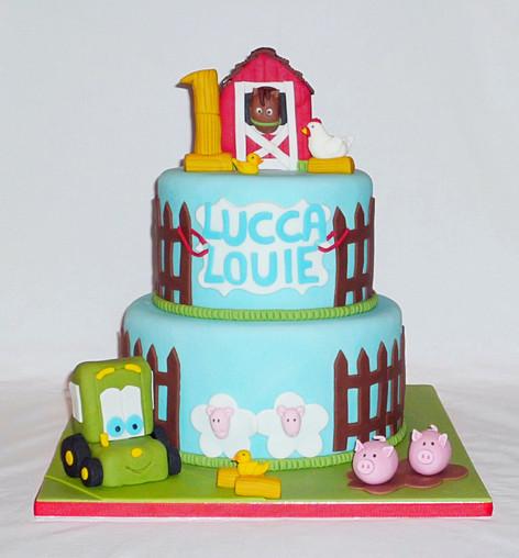 Old MacDonald Farm Cake