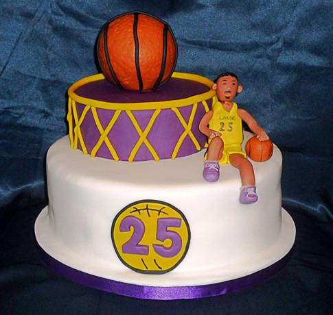 LA Lakers Basketball Cake